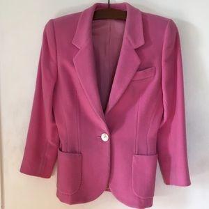 Jackets & Blazers - Italian Wool Blazer in Lovely Pink 