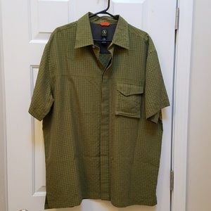 Aigle Other - Agile Green Plaid Short Sleeve Shirt Front Button