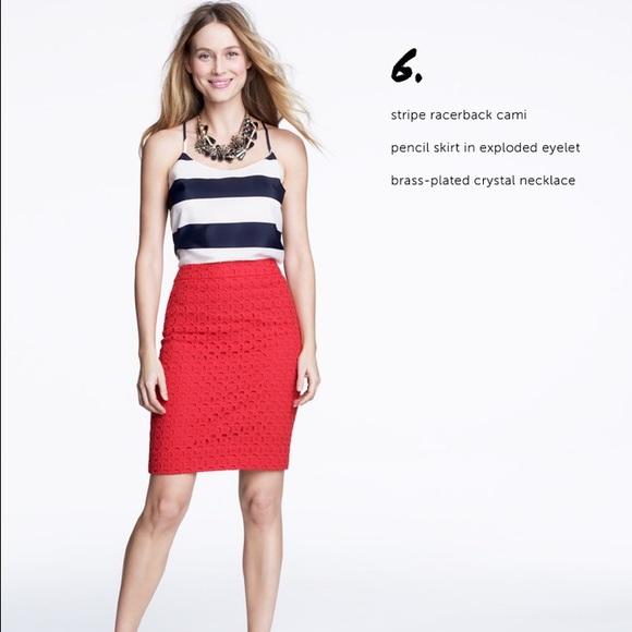 f21f5e51c02 J. Crew Factory Dresses   Skirts - J. Crew Factory eyelet pencil skirt
