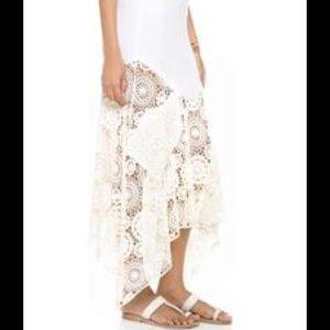 Nightcap Dresses & Skirts - Night Cap For FP Ivory Maude Maxi Crochet Skirt S