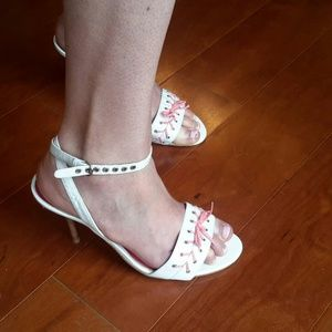 Gabriella Rocha Shoes - Gabriella Rocha Pink and White Strappy High Heels