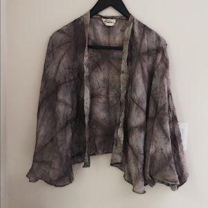 100% silk cardigan