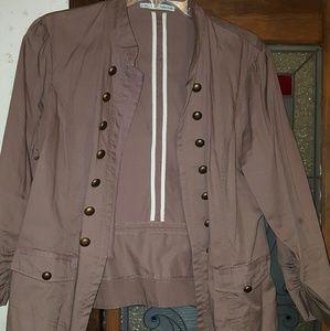 Maurices Jackets & Blazers - Mauve Military Jacket