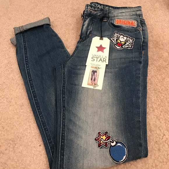 8d8e046e6ce Vanilla Star Jeans | Only Today Brand New Patchwork Denim Skinnies ...