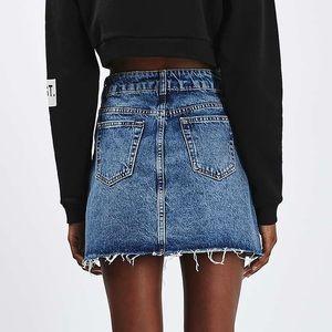 c281aa78ea3ecc Topshop Skirts | Petite Moto Denim Pelmet Skirt | Poshmark