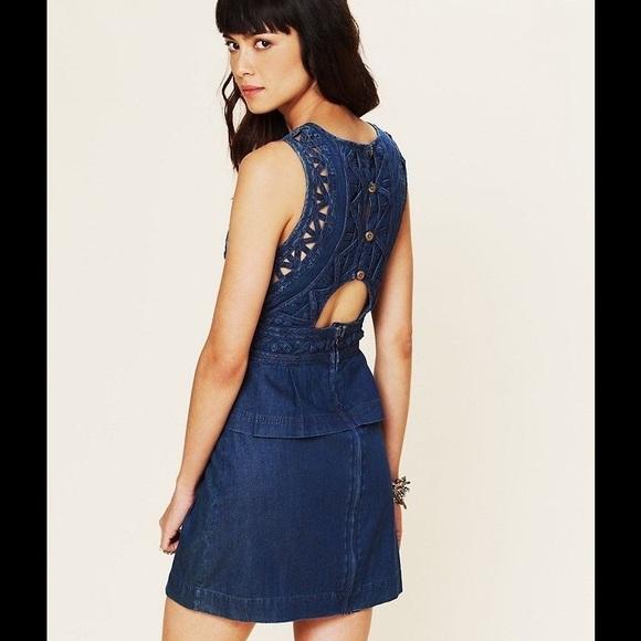 8bd3dc6a8d Free People Dresses | Fp Blue New Romantics Denim Dress 4 | Poshmark