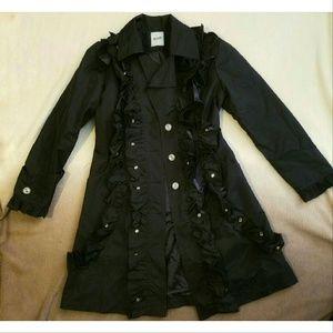 Moschino Jackets & Blazers - Moschino Cheap and Chic black ruffle trench