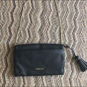 Sam & Libby Handbags - Sam & Libby Black Gold Chain Purse