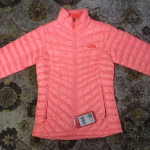 North Face Jackets & Blazers - Women's North Face Thermoball Jacket Neon Peach