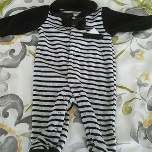 Adorable bay feetie tux pajamas