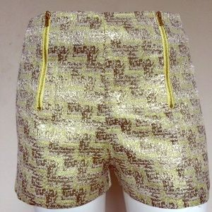 do & be Pants - Do & Be Front Zip Shimmer Shorts Lime Metallic Nwt
