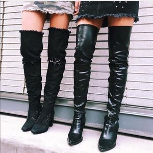 LF Faux leather thigh high boots