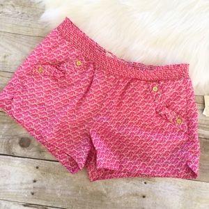 Rewind Pants - NWT Pink Geometric Print Shorts