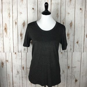 Tops - Casual Charcoal Gray Top