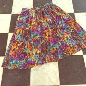 Vintage Dresses & Skirts - Pure SILK vintage skirt