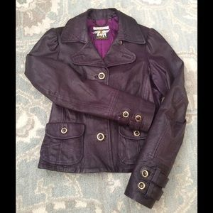 Replay Jackets & Blazers - 🌟Replay Italian Leather Jacket in plum Sz S🌟