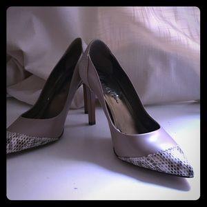 Lanvin Shoes - Lanvin nude pumps with snakeskin details