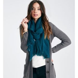 Accessories - Chevron weave oblong scarf in teal