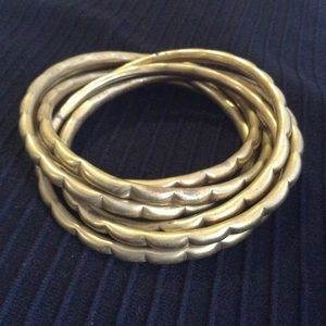 Vintage Interlocking Brass Bangles