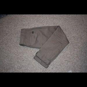 RVCA beige slim fit chino pants