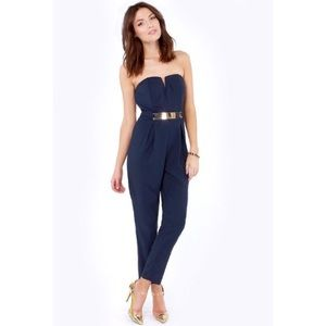 Do & Be Pants - 30% OFF BUNDES Do & Be Navy Strapless Jumpsuit