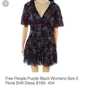Free People Dresses & Skirts - 🌹 Free People Floral Shift Dress 🌺
