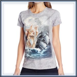 """Entropy Tops - NWT """"Attack Cat"""" Graphic Tee Top"""