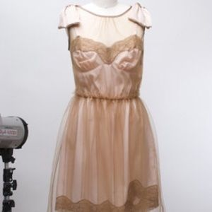 Rodarte Target Tulle Blush Nude Bow Dress