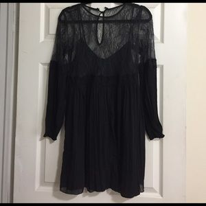 Lace mini black dress NWT