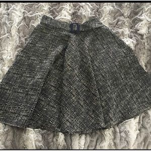 Lovely deep navy textured midi circle skirt