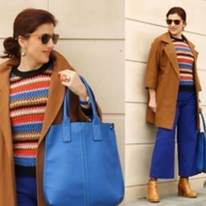 Zara Knit Multicolored striped sweater