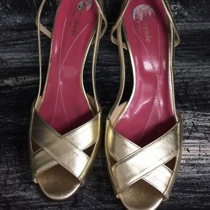 kate spade Shoes - Kate Spade Gold Shoes