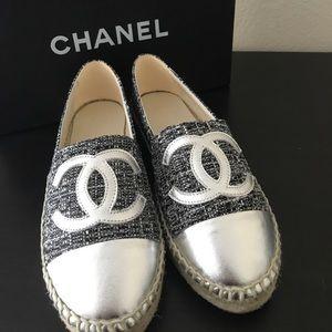 CHANEL Shoes - Chanel Metallic  Espadrilles