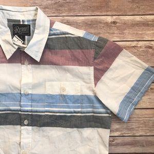 Retrofit Other - NWT Tillys Retrofit Bruno Mens Striped Shirt S C1