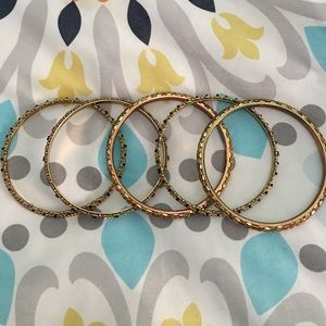 Limited gold jewel bangles