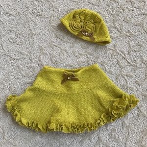 Kate Mack Other - Girls knit skirt and hat