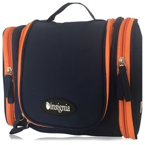 Insignia by Sigvaris Other - HANGING COSMETIC TRAVEL BAG INSIGNIA NAVY ORANGE