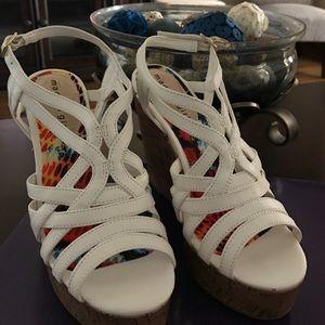 Madden Girl Shoes - Madden girl white wedge sandals