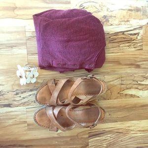 Deep purple/pink empire waist dress