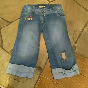 Crystal Candy Denim - Cropped Jean pants size Large