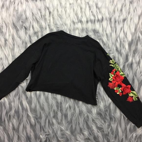 LF Tops - Strike a Rose Crop Tee