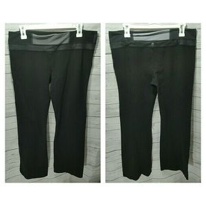 lululemon athletica Pants - Lululemon Black Bootcut Style Yoga Pants W/ Pocket