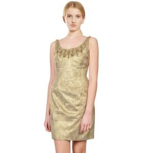 Carmen Marc Valvo Dresses & Skirts - Carmen Marc Valvo Gold Brocade Dress