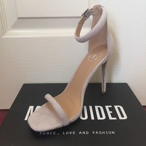 Missguided Shoes - Missguided Taupe Strappy Heels