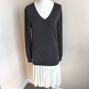The Limited Dresses & Skirts - The Limited Sweater Dress with Pleated Skirt