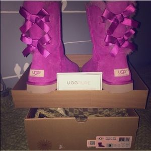 52 off ugg shoes purple bailey bow uggs from audrey s closet on