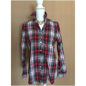 Foxcroft Tops - Plaid Foxcroft sz 8 shaped Button Down Shirt