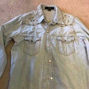 Forever 21 Denim Button-Up Shirt!
