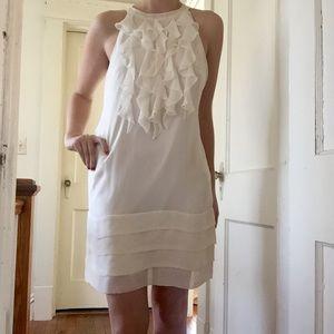 Ice Dresses & Skirts - White dress with ruffled bodice