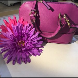 Purple Pink Handbag Mini Crossbody + Top Handles